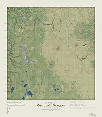 Central Oregon Relief Map