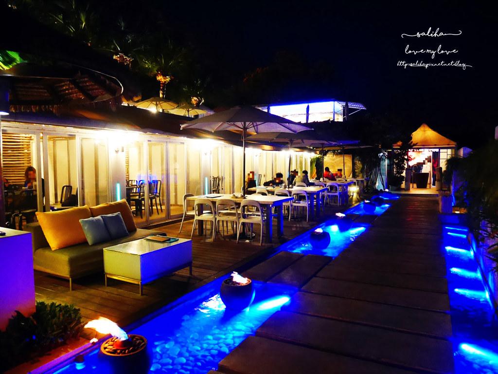 台北陽明山一日遊必吃必玩行程景點推薦THETOP屋頂上好吃景觀餐廳看夜景池畔 (1)