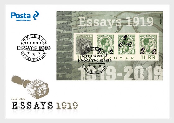 Faroe Islands - Provisional Stamps 1919 (January 11, 2019) first day cover