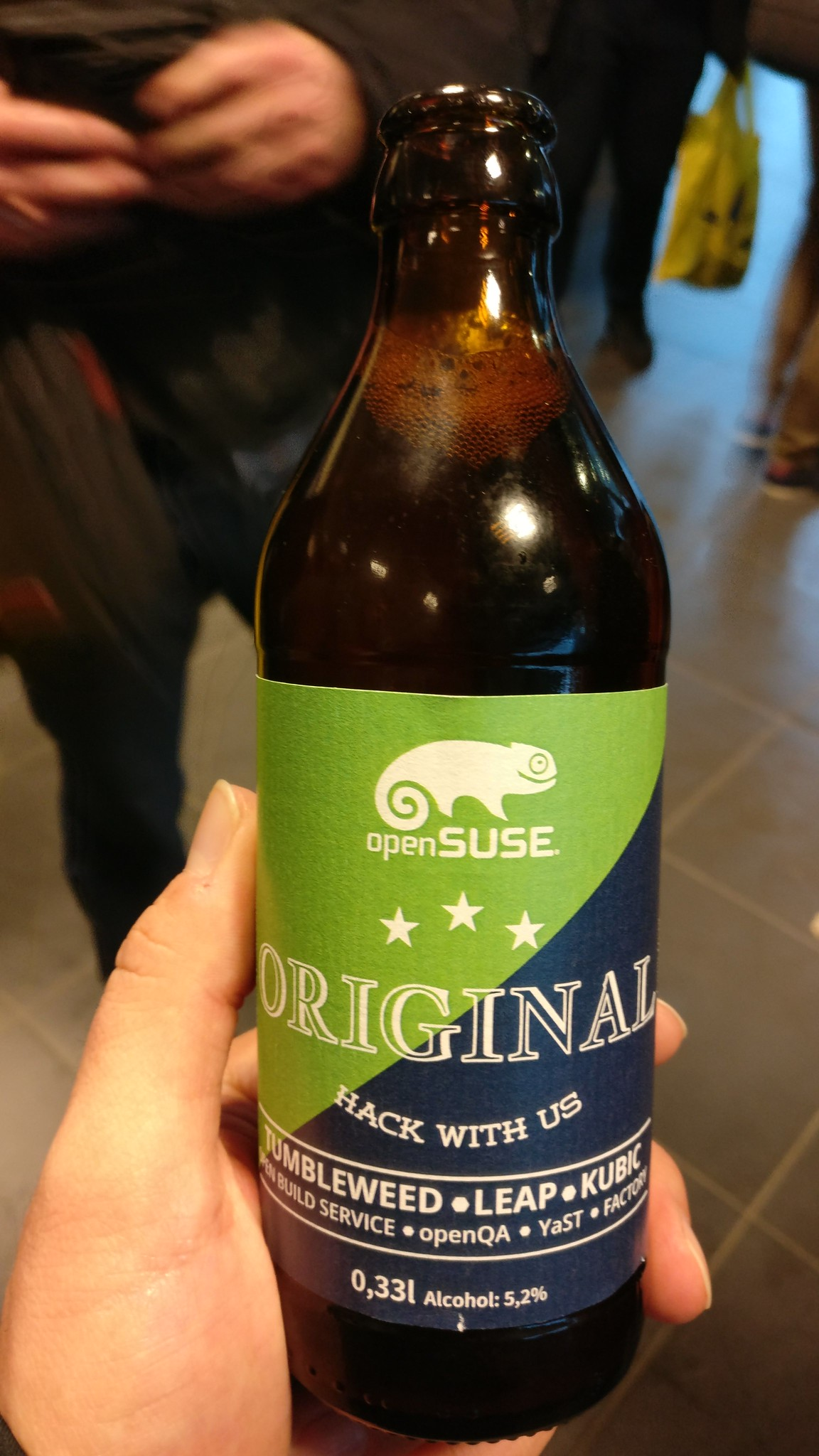 The classic OpenSUSE beer