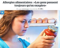 Allergies alimentaires : Les gens pensent toujours qu'on exagère