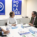 La vicesecretaria de Política Social del Partido Popular, Cuca Gamarra, se ha reunido con el Consejo General de Colegios de Farmacéuticos