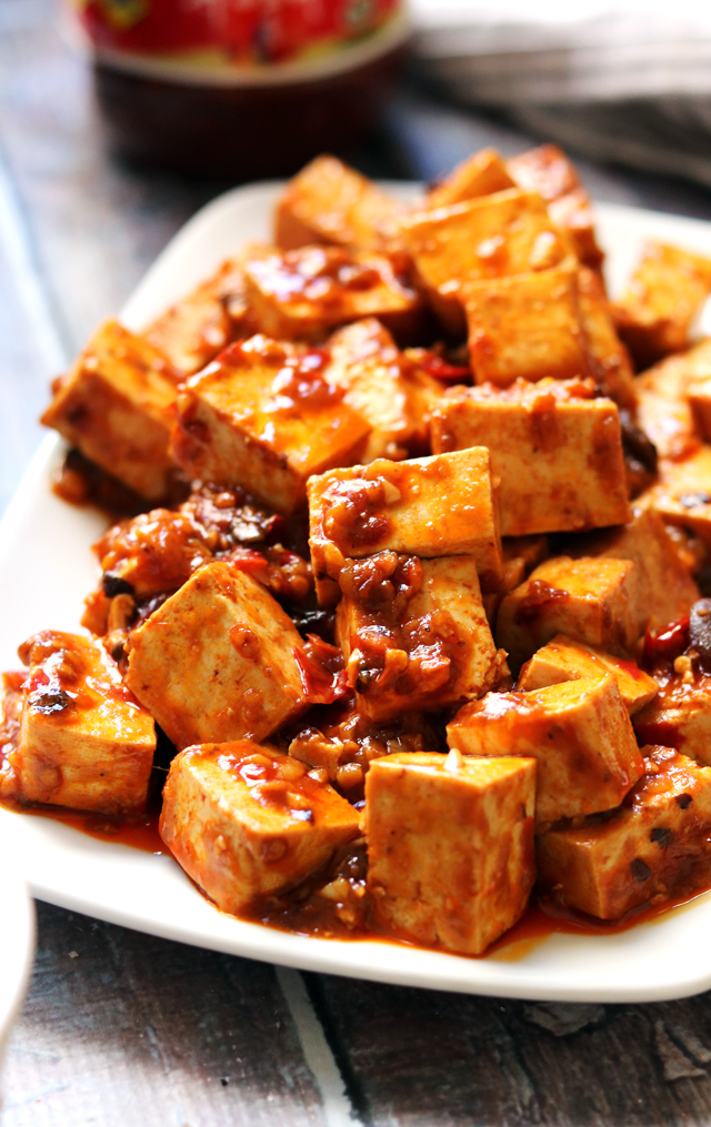 Fiery Vegetarian Mapo Tofu With Spicy Twice Cooked Chard Joanne Eats Well With Others