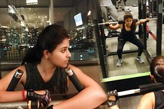 Anjali Doing Weightlifting Gym Workout