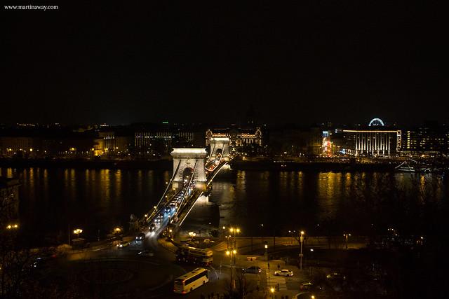 Vista dal Castello di Buda, Budapest dall'alto