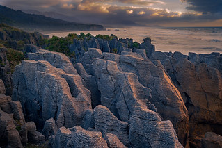 The Pancake Rocks in Punakaiki, New Zealand