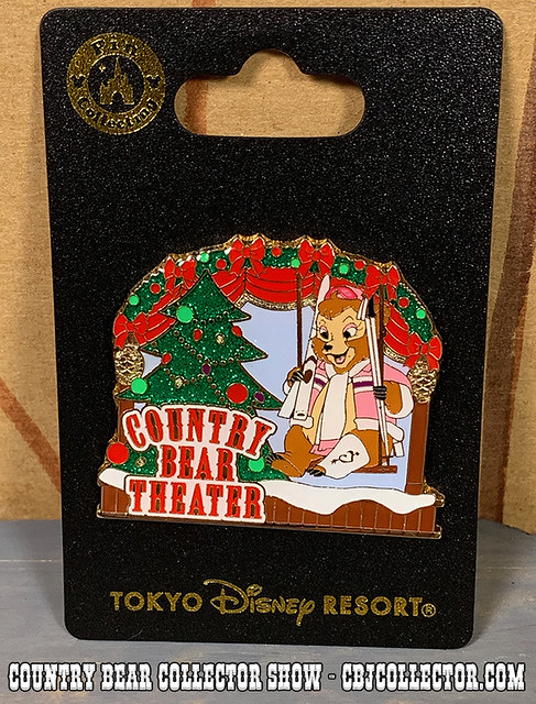 2018 Tokyo Disneyland Country Bear Theatre Christmas Pin - Country Bear Collector Show #184