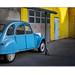 2cv bleu et jaune by Ernst Haas