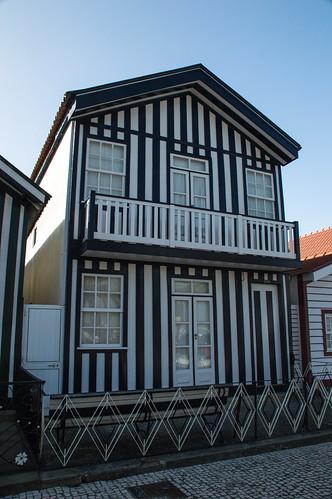 One of The Striped Houses of Costa Nova do Prado