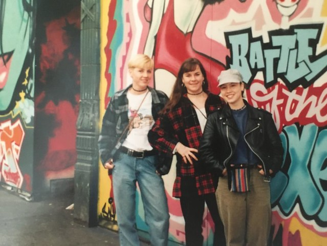 Naomi (on the left) in Seattle, 1994