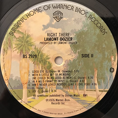 LAMONT DOZIER:RIGHT THERE(LABEL SIDE-B)