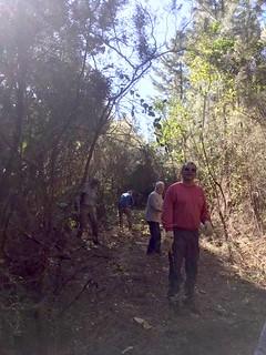 Un groupe de travailleurs sur le sentier RG de la Sainte-Lucie
