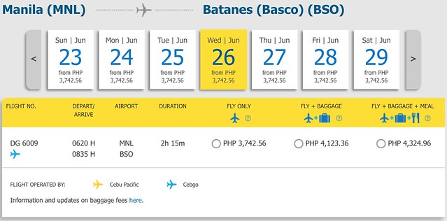 Manila to Batanes Cebu Pacific Year-round Fare