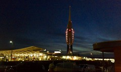 Spinnaker Tower & bus station at Portsmouth Hard.
