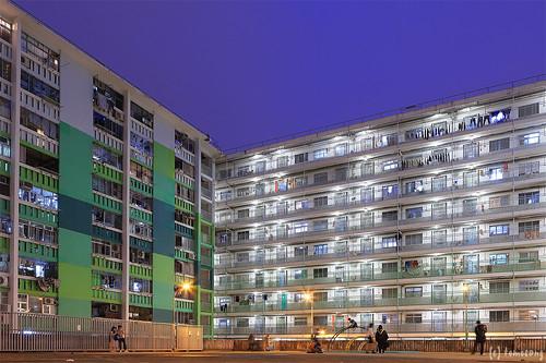 Nam Shan Estate at night