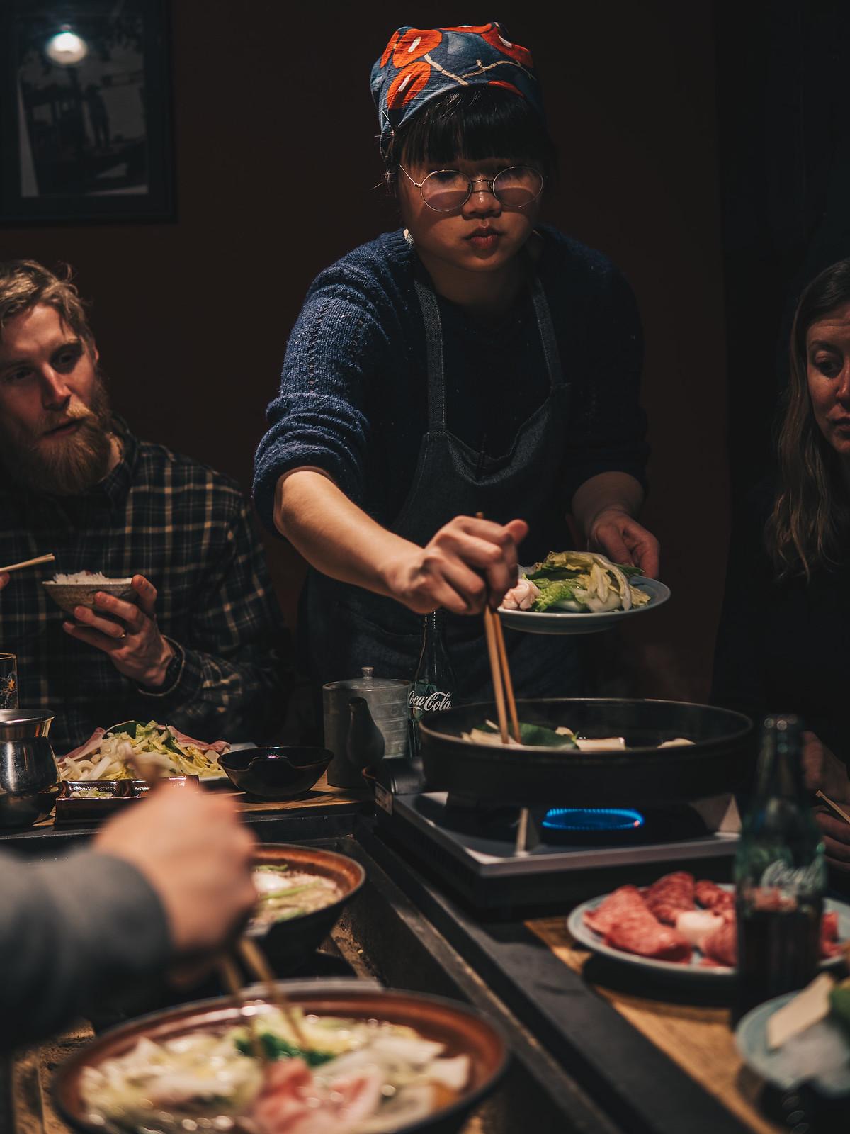 Hotpot:a illallispöydässä