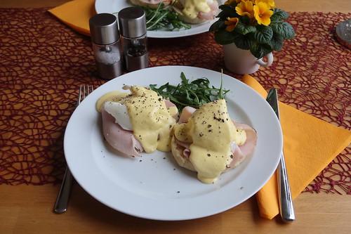 Eggs Benedict (mein Teller)
