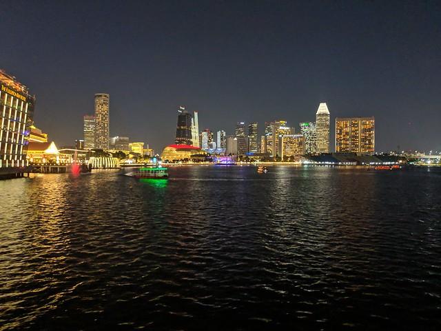 Singapore Harbour Night Lights