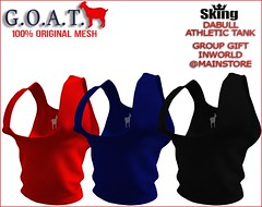G.O.A.T. SKING DABULL ATHLETIC TANK GROUP GIFT