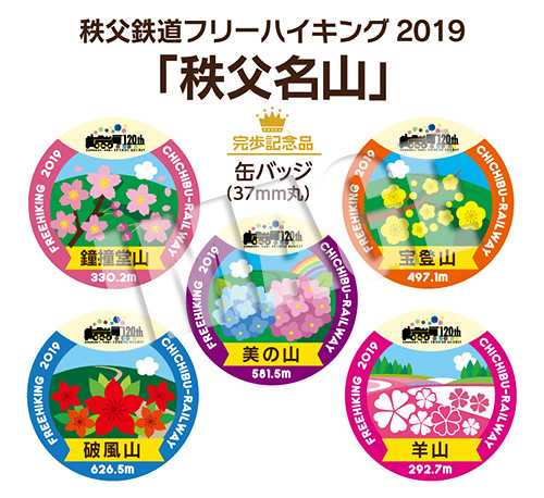 秩父鉄道フリーハイキング2019「秩父名山」☆完歩記念品