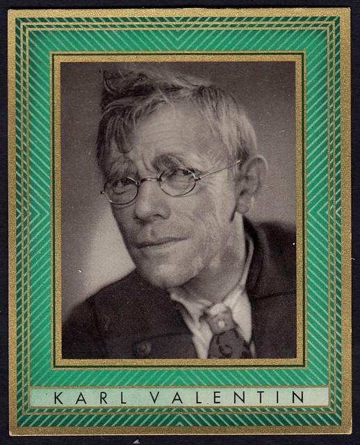 German Cigarette Card - Karl Valentin