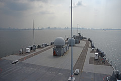 USS Blue Ridge (LCC 19) arrives for a port visit in Manila, March 13. (U.S. Navy/MC3 Dylan McKay)