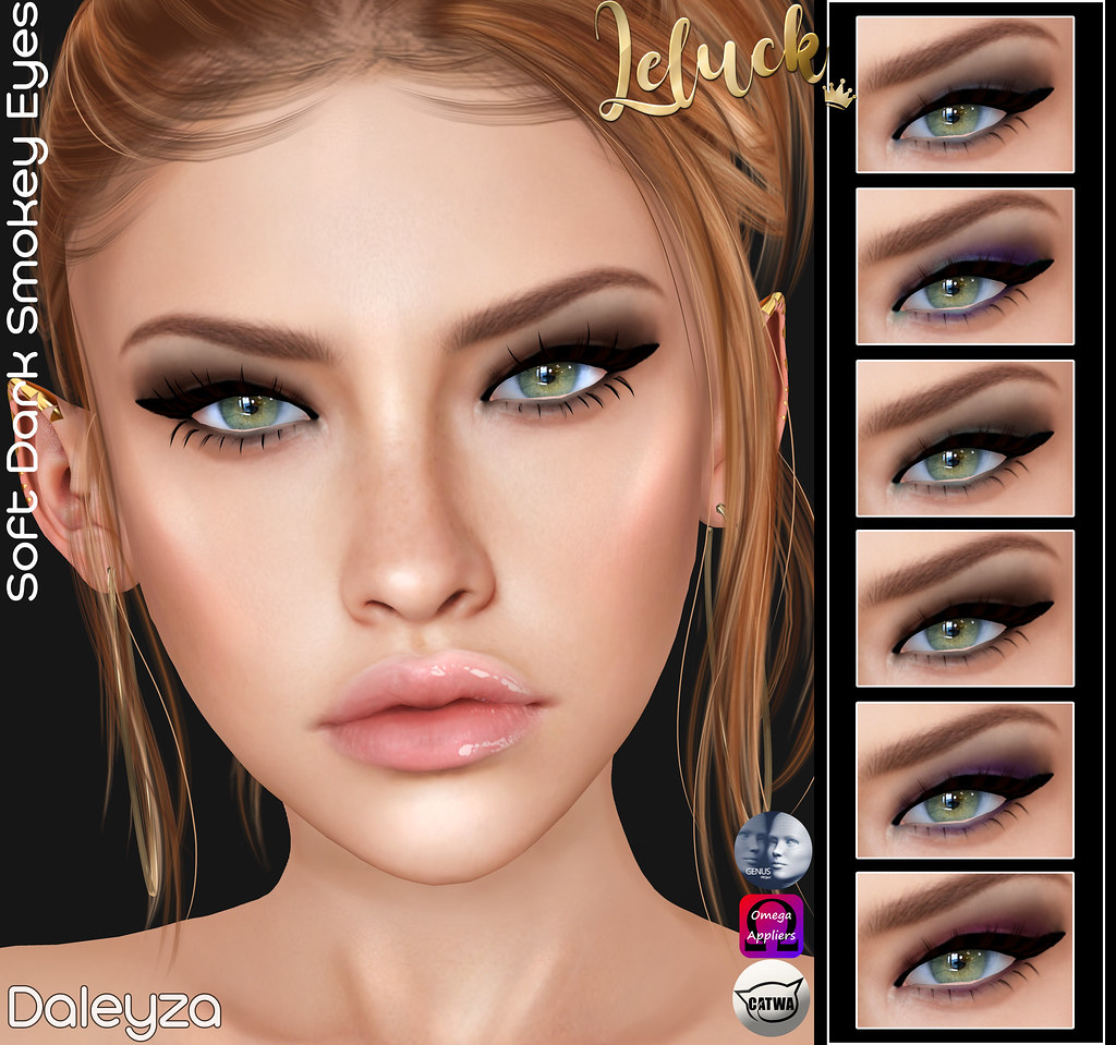 [LeLuck]Soft Dark Smokey Eyes Daleyza