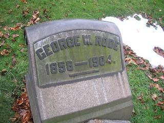 George W. Rode headstone