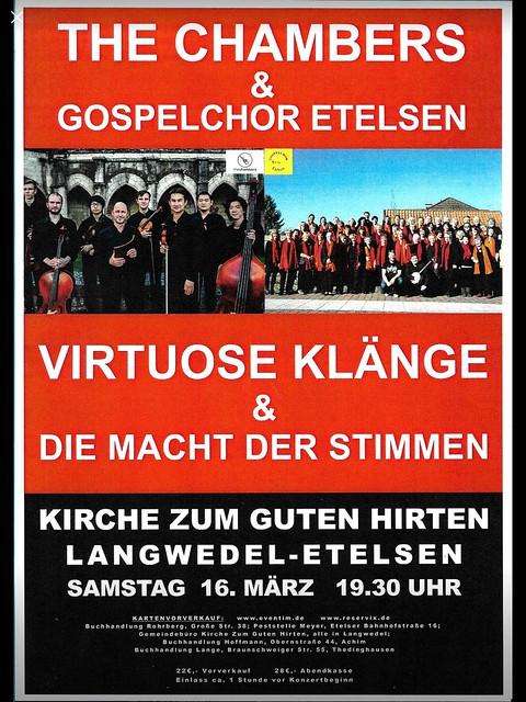 Konzert Gospelchor 16. März 2019