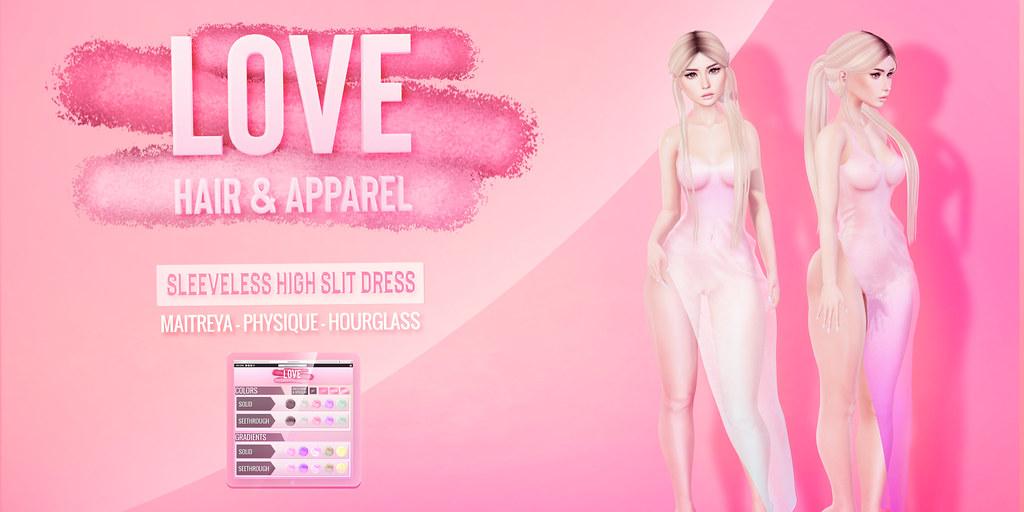 Love [Sleeveless High Slit Dress] – The Saturday Sale!