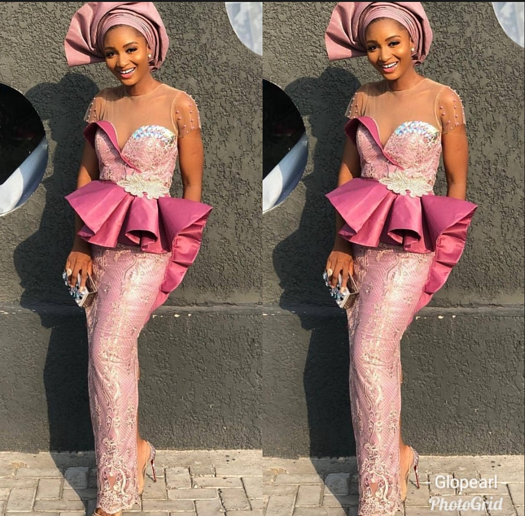 GORGEOUS AND FRESH PINK ASO EBI DRESS FOR YOUR EVENTS  2