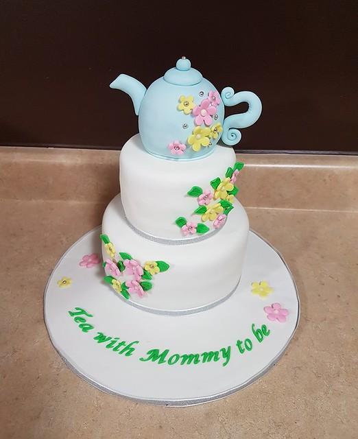 Baby Shower Tea Party Cake by Cakes Done Right