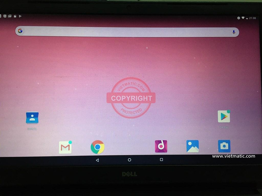 Giao diện màn hình chính của Android for PC