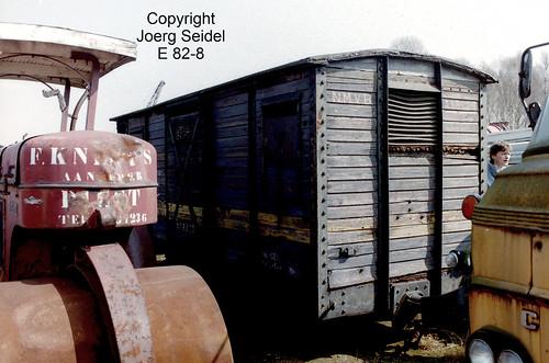 BE-3630 Maasmechelen Armand Lowie SNCV Güterwagen A18228 im März  1991