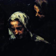 16 - Courbevoie - Musée Roybet Fould - Théodule Ribot, L'esprit et la chère - Chez l'antiquaire, Vers 1890, Huile sur toile - Détail