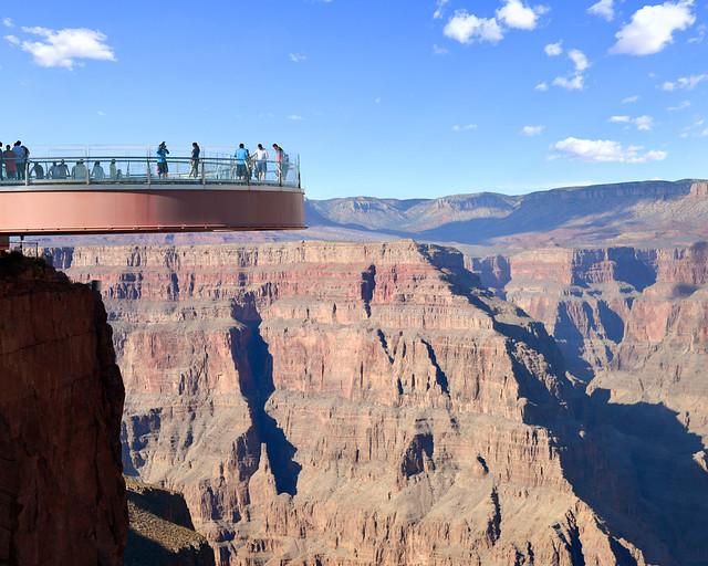 Pasarela de cristal del Gran Cañón del Colorado en Estados Unidos