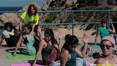 Yoga Junto al Mar en Playa del Deporte