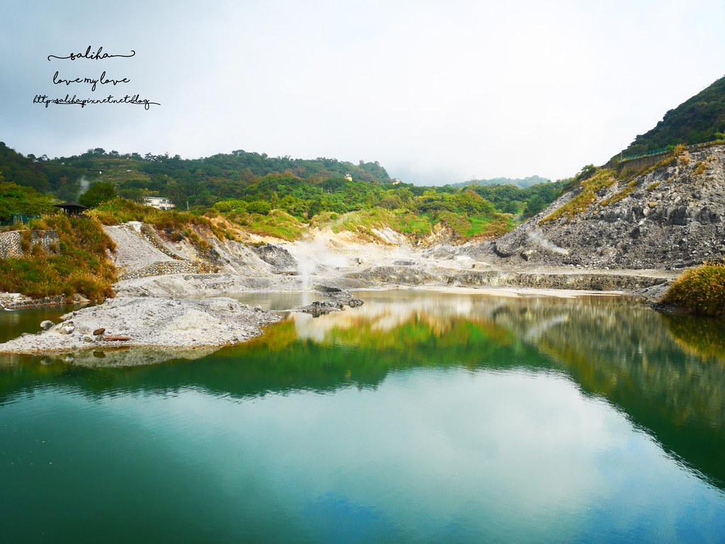 台北陽明山一日遊景點推薦硫磺谷龍鳳谷公園免費泡湯溫泉泡腳池 (4)