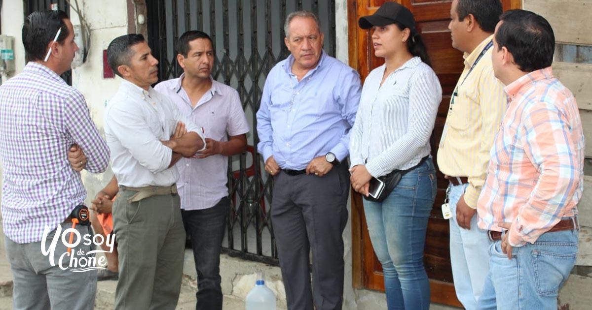 Inspección de trabajos en avenida Amazonas