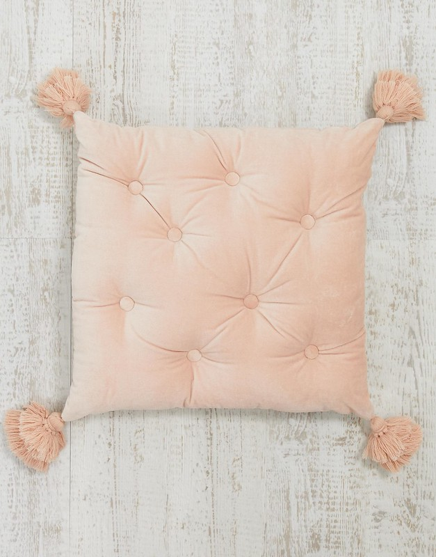 ASOS SUPPLY quilted filled tassel cushion in pink £18