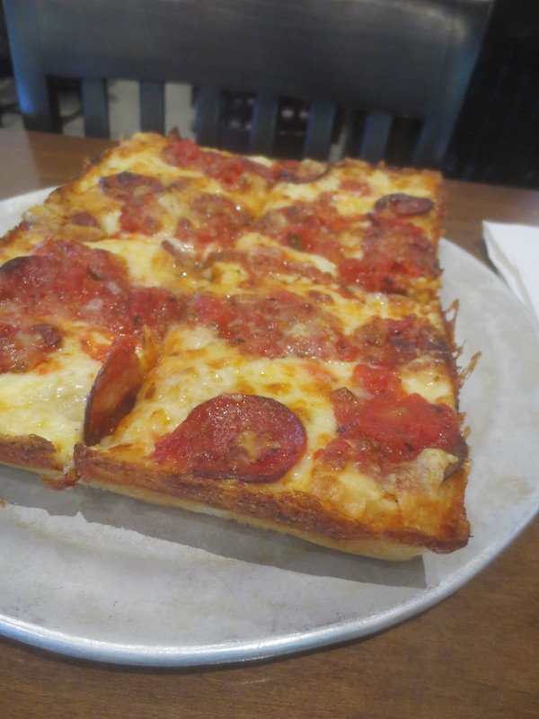 Detroit pizza at Buddy's