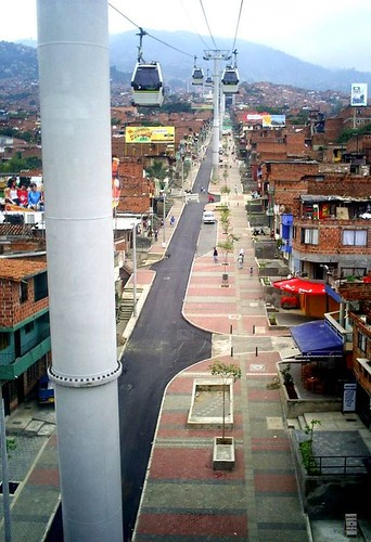 Medellin, Northeastern Urban Integration Project associated with MetroCable cable car project