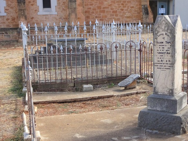 Photo:Salisbury St Johns Anglican cemetery. Taplin graves with the impressive grave behind of the Winzor family of Deal Court. William Taplin married Harriet Winzor in 1860. By denisbin