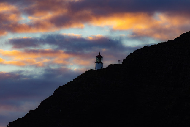 A Lighthouse On Oahu Island, Hawaii