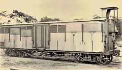 Africa Railways - Congo - Chemin de fer du Katanga (CFK) bogie-type freight car Nr. 7013