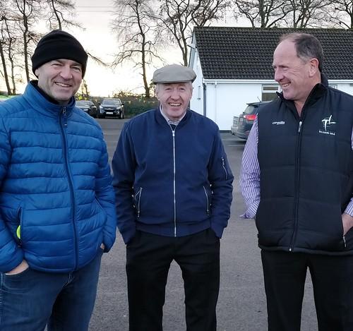 Ready to Sub        Eoghan Barrett, Kieran Langan and Pat Murphy at  the Vinnie GoFundMe Event at BME GFC.   Photo Rose B O'Donoghue