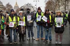 Paris, manifestation du 19 janvier 2019 des Gilets Jaunes Acte X