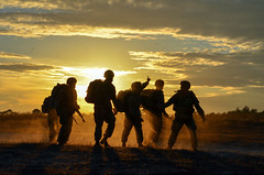 Panther Paratroopers Conduct Sunset Static Line Jump