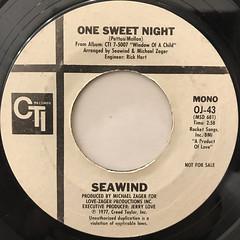 SEAWIND:ONE SWEET NIGHT(LABEL SIDE-B)