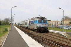 01 avril 2014 BB 67576 Train Bordeaux -> Thouars Saint-André-de-Cubzac (33) - Photo of Saint-Antoine